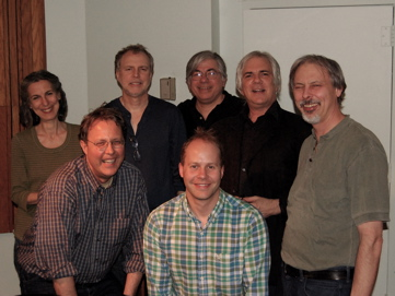 Session For James Reams And The Barnstormers. L To R: Tina Aridas, James Reams, Mark Farrell, Nick Sullivan, JG, Kenny Kosek, Doug Nicolaisen