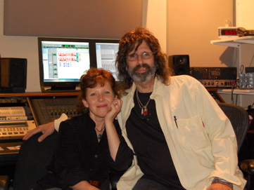 Julie Last, Producer, Charles Lyonhart, Artist. Mastering Session For 'Outside Looking In'