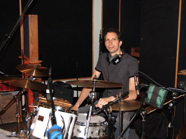 Drummer Chris Benelli At Shelter Island Studios. Session For Xbanders