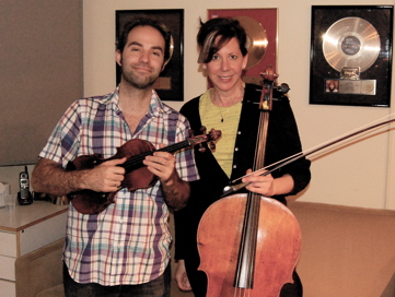 Violinist Antoine Silverman And Cellist Jeanne LeBlanc. Session For Marco Joachim.