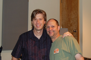 Drummer Tommy Igoe And Engineer Sean McClintock Mixing Tommy's Instructional DVD.