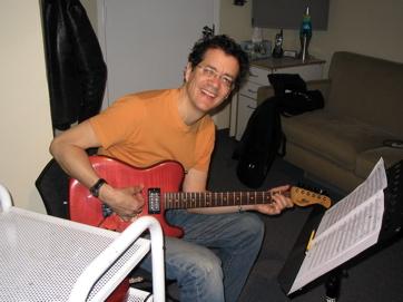 Jon Herington — Noted Hellacious Guitar Player, With Custom Sadowsky.