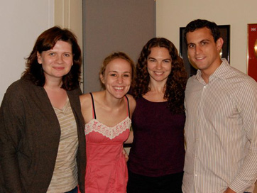 Emmy Laybourne, Jennifer Blood, Lauren Cregor Devine, Matt Dellapina. Session For 'Starbucks, Tuesday 2:17pm'