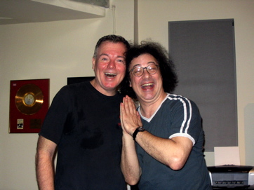 Bobby Peaco, Composer/arranger And George Sanders, Singer/actor, Spreading Merriment And Mayhem Wherever They Go.