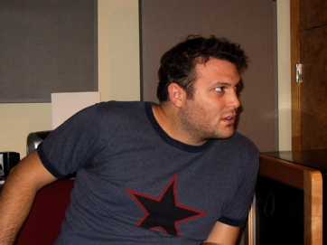 Michelangelo Sosnowitz, Singer, Writer, Keyboardist Of Rabbits Against Magic, Listening To Edit Number 367 Of His Upcoming CD.