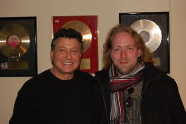 Peter Bliss Of Songwiters Hall Of Fame And Kasper Skytte Of Hoptrup Efterskole.