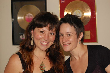 Singer Shanna Jones And Percussionist Amanda Wheeler.