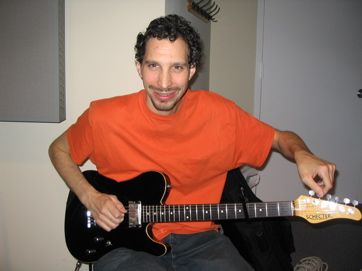 Craig Benelli With His Schecter Tele.