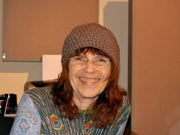 Bev Grant At A GRANT&WOOL Mastering Session
