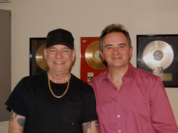 Singer Robert Gordon, Producer/Writer Mick Hanson Vocal Session For Mick.