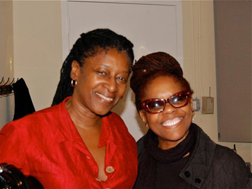 Cellist Akua Dixon, Singer/producer Catherine Russell. Session For Carlene Ray.