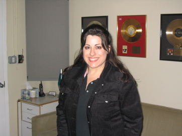 Jenifer Kruscamp After Laying Down The Vocal Law.