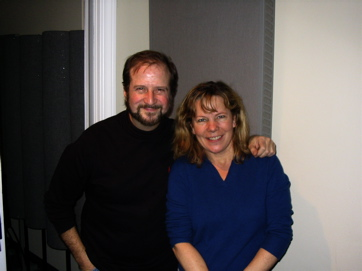 Trumpeter Larry Etkin And Composer Luce Amen At A Recording Session For 'The Amazing Journey Of Juan Diego'