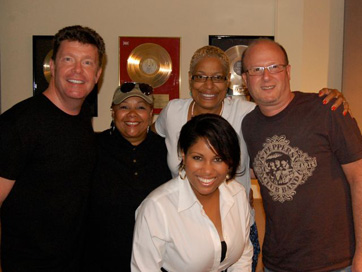Vocal Group Session For Ronnie Lawson Productions: Back L To R: Kevin Osborne, Ada Dyer, Vaneese Thomas, Ronnie Lawson. Front: Nicki Richards.