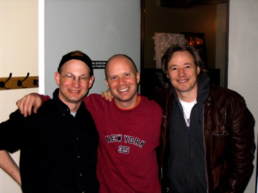 Percussionist Larry Eagle, Keyboardist Seth Farber, And Artist Brady Rymer, In Session For An Upcoming Release.