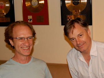 Composer Mark Suozzo, Director Whit Stillman. Session For Damsels In Distress.