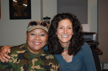 Singer Ada Dyer With Songwriter Belle Schneiderman.