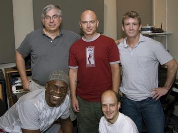 Top; JG, Michael Cerveris, Greg Parratto (Envision Music Design) Bottom: Everett Bradley (EMD), Taro Alexander (Our Time) Photo By Mikiodo