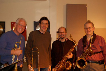 Jim Hynes, Mike Davis, Aaron Heick, Roger Rosenberg. Session For Marco Joachim.
