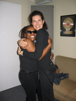 Singer Catherine Russell And Artist Meg Flather At A Session For Meg's CD 'Passages'.