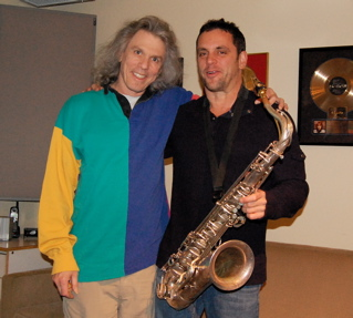 Mixer/producer Bob Power With Saxman Andy Snitzer