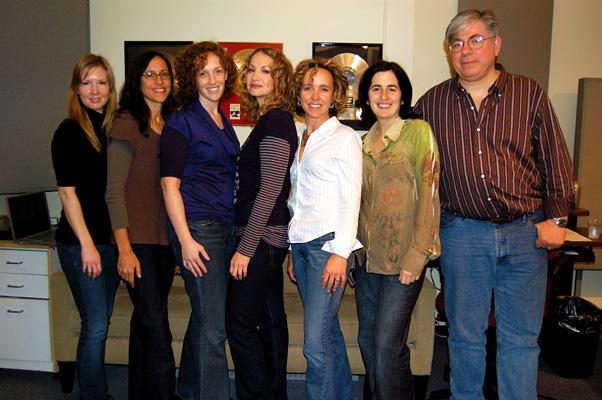 Sheri Turnbow (TNC), Maya Churi, Jennifer Marks (MCP), Joan Osborne, Jessica Hoffmann (MCP), Julie Insogna (Oxygen), And JG. Session For 'My Changing Planet.'