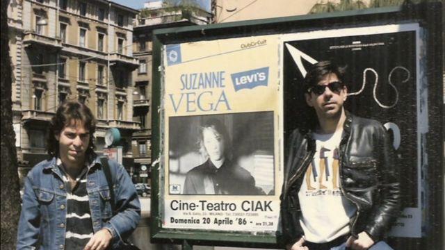 Mike Viscegia, Jon Gordon With Poster.