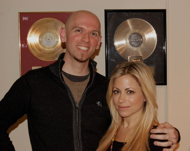 Singers Jeff Washburn And Jill Goia. Session For Ronnie Lawson Productions.